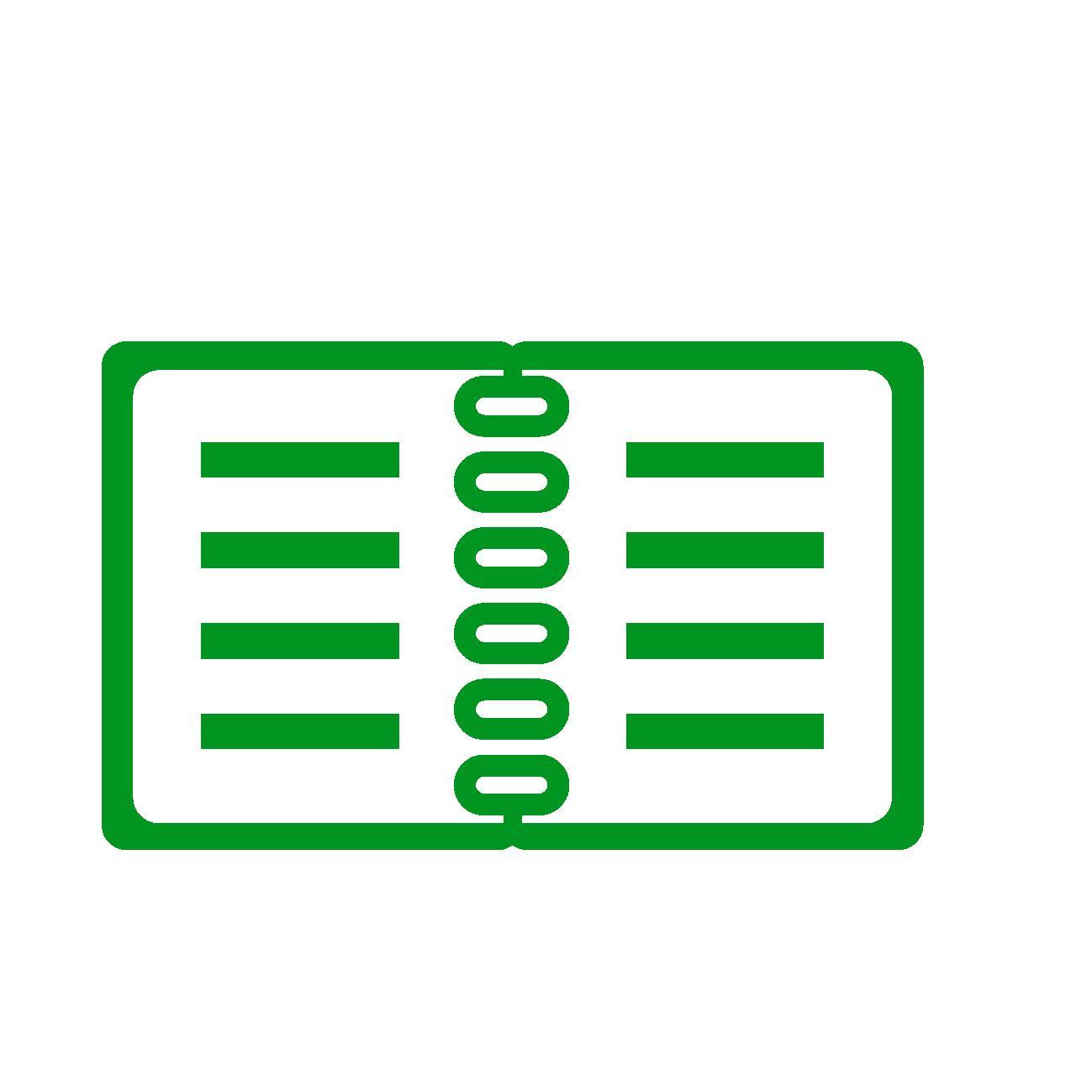 スケジュール帳(緑)